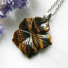 Náhrdelníky - Kvet z tigrieho oka - 12711822_