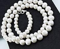 Náhrdelníky - Perlový náhrdelník, ag925 - 12709126_