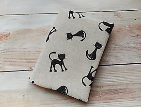 Papiernictvo - Čierne kočky pre šťastie, obal na knihu - 12709385_