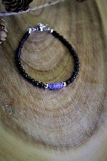 Náramky - tanzanit a turmalín náramok - luxusný šperk pre náročného zákazníka - 12709748_