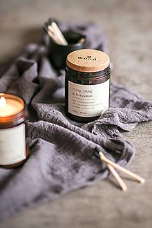 Svietidlá a sviečky - Sójová sviečka - Ylang ylang a bergamot - 12710342_