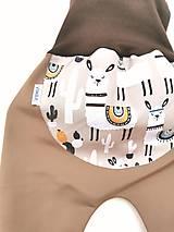 """Detské oblečenie - Softshellky """"lama alpaka"""" - 12709864_"""