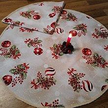 Úžitkový textil - Obrus kruh VIANOČNÉ OZDOBY - 12711065_