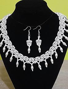 Sady šperkov - Svadobný perlový set - 12710000_