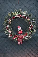 Dekorácie - Vianočný maxi veniec - 12711875_