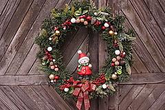 Dekorácie - Vianočný maxi veniec - 12711883_