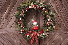 Dekorácie - Vianočný maxi veniec - 12711886_