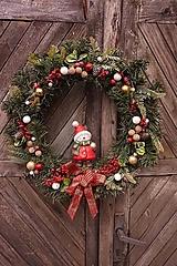 Dekorácie - Vianočný maxi veniec - 12711897_