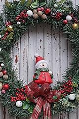 Dekorácie - Vianočný maxi veniec - 12712066_