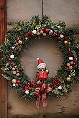 Dekorácie - Vianočný maxi veniec - 12712079_