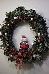Dekorácie - Vianočný maxi veniec - 12712385_