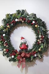 Dekorácie - Vianočný maxi veniec - 12712393_