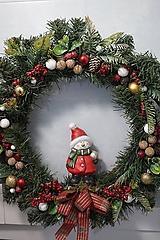 Dekorácie - Vianočný maxi veniec - 12712403_