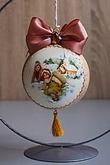 Dekorácie - Vintage vianočná ozdoba guľa - 12713364_