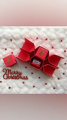 Krabičky - Origami vianočné salonky - 12709605_