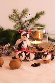 Dekorácie - Vianočné oriešky-kôň - 12710516_
