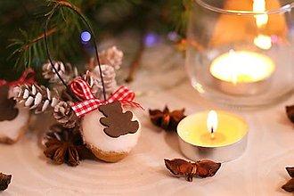 Dekorácie - Vianočné oriešky-macko - 12710743_