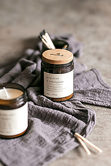 Svietidlá a sviečky - Sójová sviečka - Grapefruit a lemongrass - 12709700_