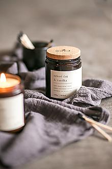 Svietidlá a sviečky - Sójová sviečka - Zelený čaj a vanilka - 12709956_