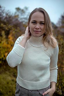Svetre/Pulóvre - Merino sveter TAMARA 100% merino vlna - 12712716_