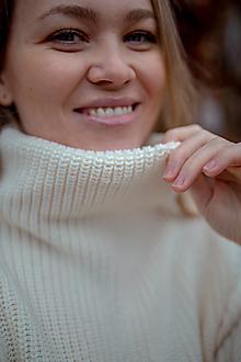 Svetre/Pulóvre - Merino sveter SOFIA 100% merino vlna - 12712777_