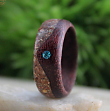 Prstene - Prsteň amarant s kryštálom Swarovski a Jadeitom - 12711812_