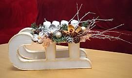 Dekorácie - Vianočná dekorácia sánky - 12709164_