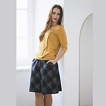 Sukne - Áčková sukně Grid Blue - 12713373_