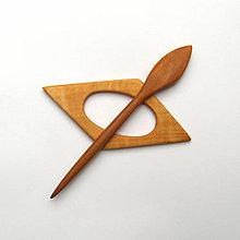 Brošne - Drevená ihlica na šál - jelšová - 12709553_