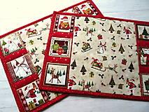 Úžitkový textil -  Novelty Christmas... prestieranie 2 ks - 12716174_