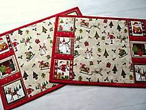 Úžitkový textil -  Novelty Christmas... prestieranie 2 ks - 12716176_