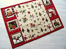 Úžitkový textil -  Novelty Christmas... prestieranie 2 ks - 12716177_