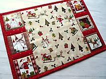 Úžitkový textil -  Novelty Christmas... prestieranie 2 ks - 12716178_