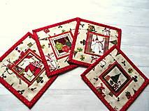 Úžitkový textil - Novelty Christmas ... podložky 4 ks No.1 - 12716209_