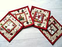 Úžitkový textil - Novelty Christmas ... podložky 4 ks No.2 - 12716227_