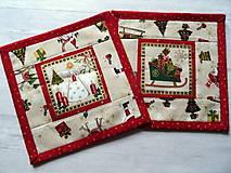 Úžitkový textil - Novelty Christmas ... podložky 4 ks No.2 - 12716228_