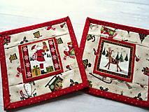 Úžitkový textil - Novelty Christmas ... podložky 4 ks No.2 - 12716229_