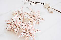Dekorácie - Vianočná dekorácia - hviezdičky 4ks - 12715636_