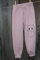 Detské oblečenie - Ružové tepláčky Cicka - 12714599_