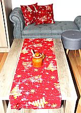 Úžitkový textil - Vianočná sada - stredový obrus + 2 vankúše - 12716079_