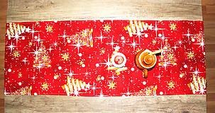 Úžitkový textil - vianočný stredový obrus - behúň - 12716125_