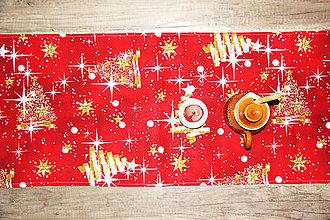 Úžitkový textil - vianočný stredový obrus - behúň - 12716108_