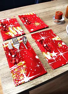 Úžitkový textil - Sada vianočných príborníkov - obal na príbor - 12716624_