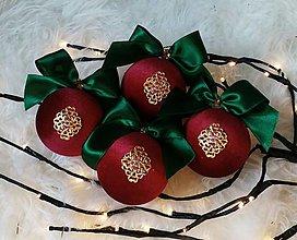 Dekorácie - Vianočné gule - 12715671_