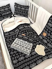 Textil - SET pre bábätko Čičmany - personalizovaný, OEKO-TEX® - rôzne farby - 12718407_