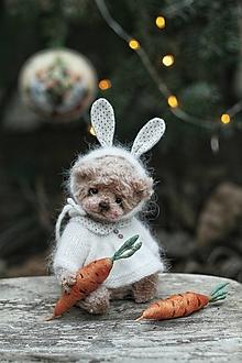 Hračky -  Mini Teddy v obleku zajaca - 12713694_
