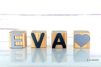 Hračky - Kocky drevené  Eva - 12713965_