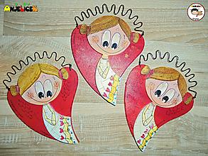 Dekorácie - Anjelik na stenu - 12717391_