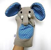 Hračky - Maňuška slon - Sloník od Modrého jazera - 12713868_