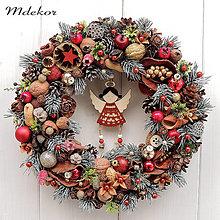 Dekorácie - Vianočný veniec s anjelom - 12713832_